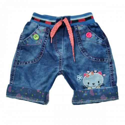"""Шорты джинсовые для девочки """"Kitty"""""""