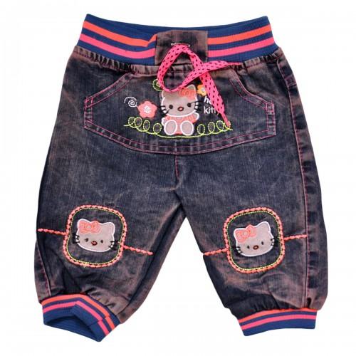 "Бриджи джинсовые для девочки ""Hello Kitty"""