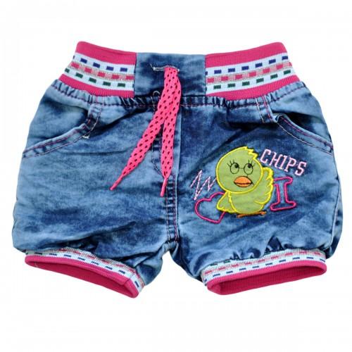 """Шорты джинсовые для девочки """"Chips"""" -02"""