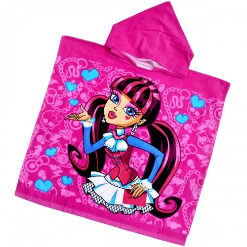 """Детская махровая накидка с капюшоном """"Monster High"""""""