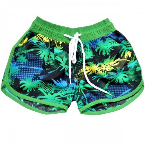 "Шорты женские ""Яркие пальмы"" (green)"