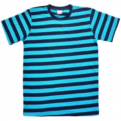 "Футболка ""Широкие полосы"" (turquoise)"