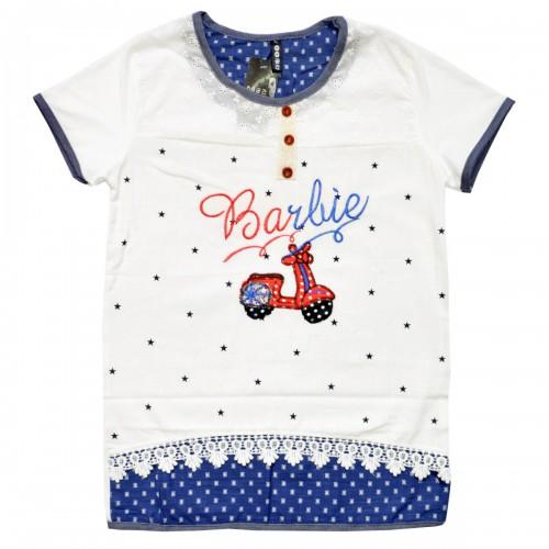 """Блузка подростковая """"Barbie"""" (с кружевами)"""