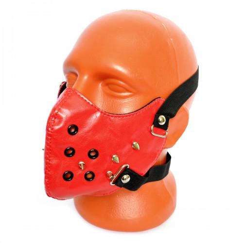 Маска на лицо кожаная -12