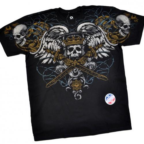 """Футболка """"Blue Skulls & Gothic Skull & Crossed Swords"""" (США)"""