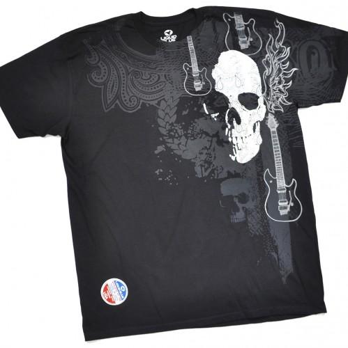 "Футболка ""Silver skull & guitars"" (США)"
