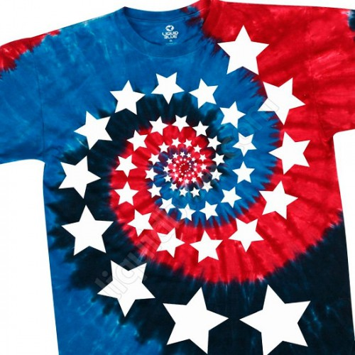 "Футболка ""Red White and Blue Spiral Stars"" (США)"
