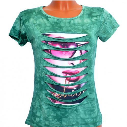 "Футболка женская ""Fashion Girl"" (green)"
