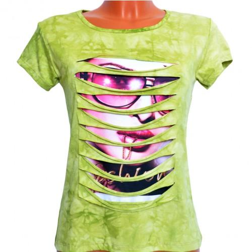 "Футболка женская ""Fashion Girl"" (l.green)"