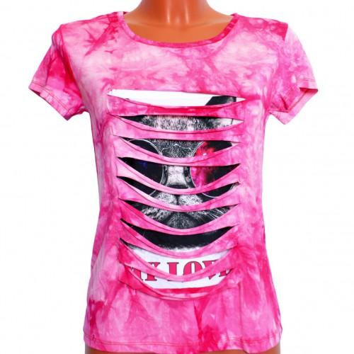 "Футболка женская ""Me Love"" (pink)"