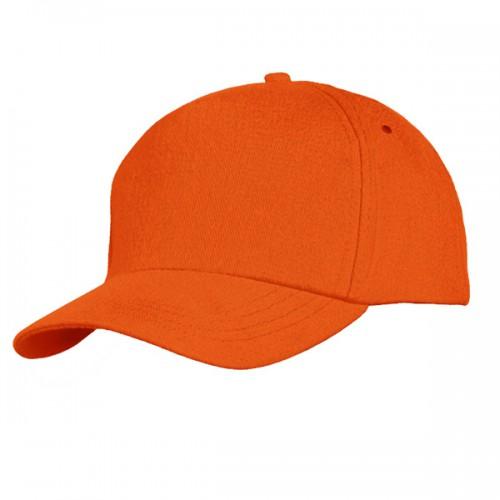 Бейсболка оранжевая (велюровая)
