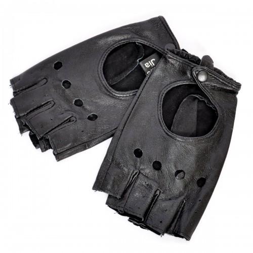 Перчатки без пальцев из натульной кожи (женские)