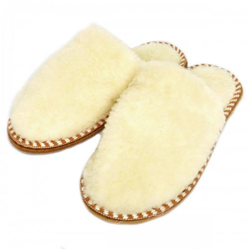 Тапочки меховые (белые)