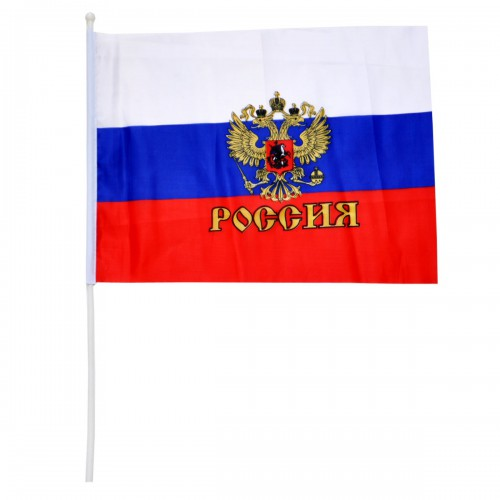"""Флажок """"Россия с гербом"""""""