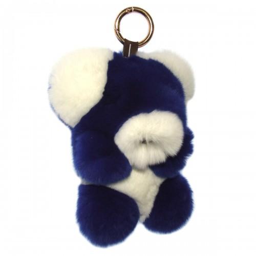 """Меховой брелок """"Мишка"""" на сумку -01"""