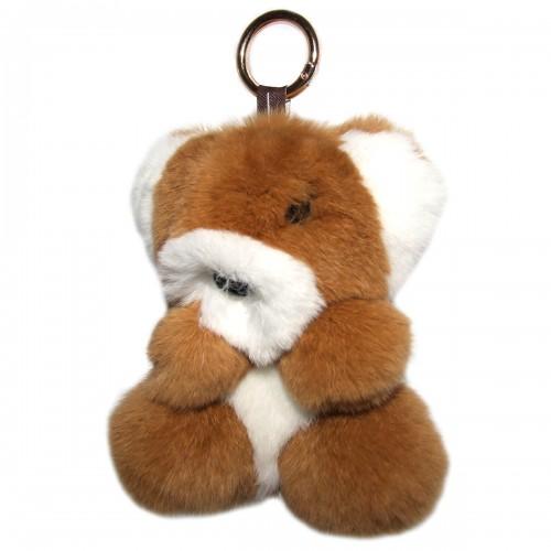"""Меховой брелок """"Мишка"""" на сумку -05"""