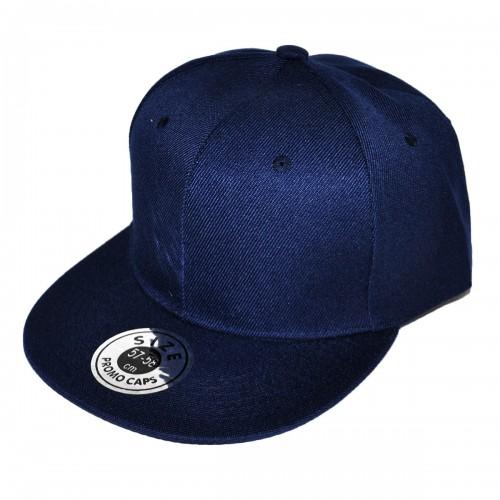 Темно-синяя кепка с прямым козырьком