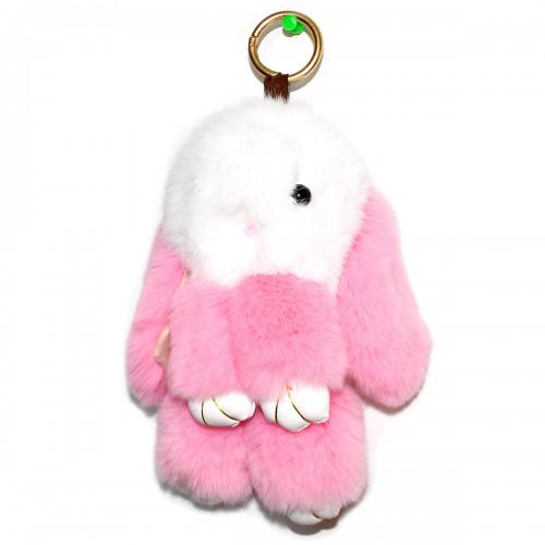 """Меховой брелок """"Зайчик"""" (кролик) 18 см на сумку -73"""