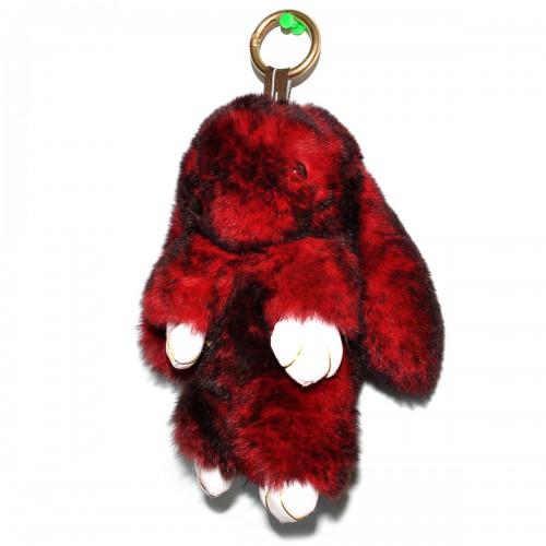 """Меховой брелок """"Зайчик"""" (кролик) 18 см на сумку -81"""