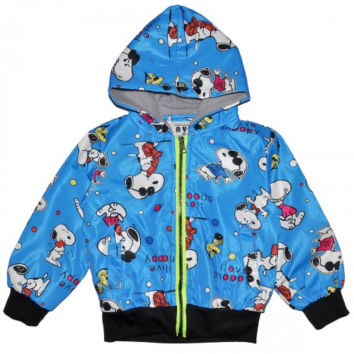 """Куртка-ветровка детская с подкладкой """"I love snoopy"""" (синий)"""
