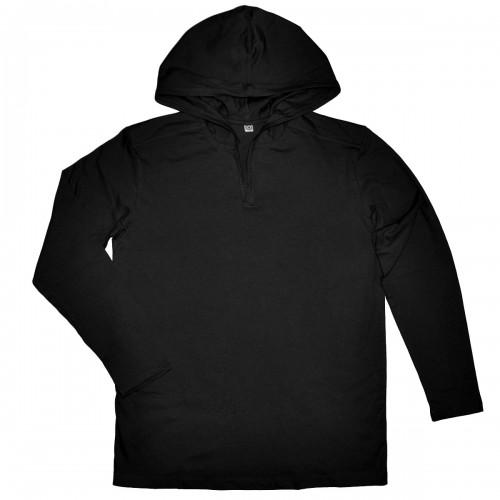 Кофта мужская с капюшоном, черная