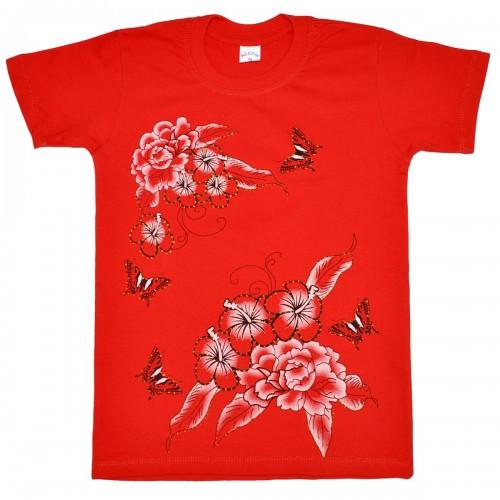 "Футболка детская ""Butterflys and flowers"" для девочки"