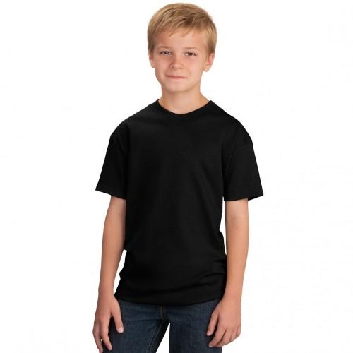 Футболка подростковая, однотонная, цвет черный