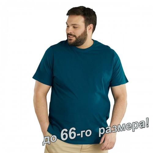 Футболка мужская, большого размера, джинсового цвета