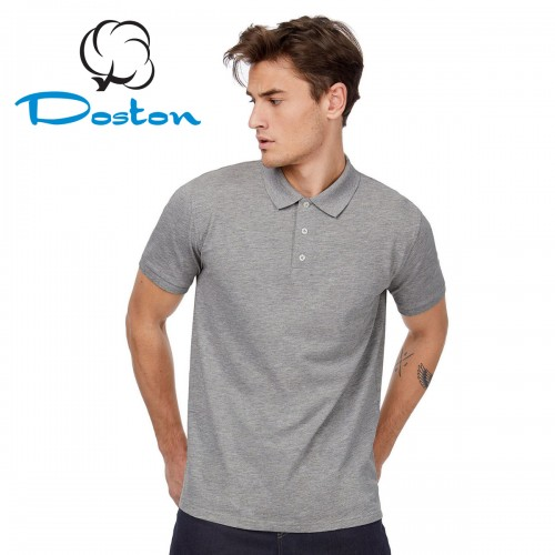Рубашка-поло серая, Doston (эконом)