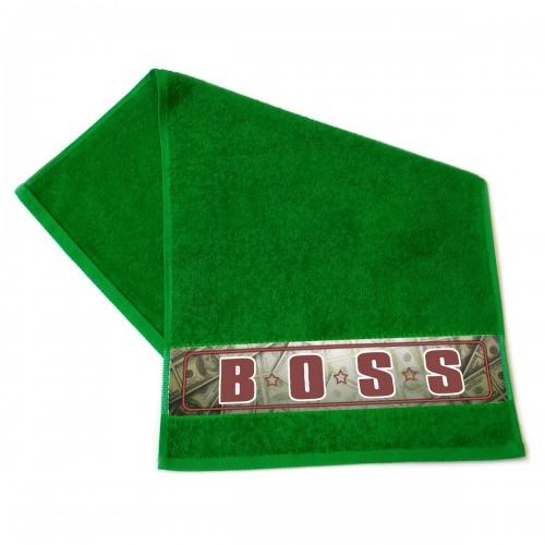 "Полотенце махровое, подарочное ""BOSS"""