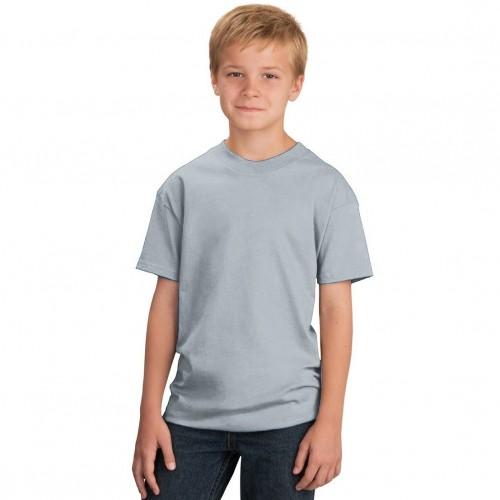 Футболка подростковая, однотонная, цвет серый