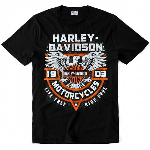 "Футболка ""Harley-Davidson (Life free - Ride free)"""