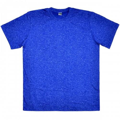 """Футболка мужская """"Ecotex-UZ"""", большого размера, синий меланж"""