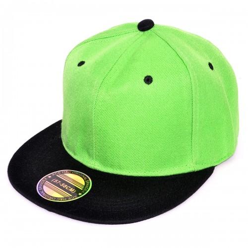 Кепка с прямым козырьком (зеленый с черным)