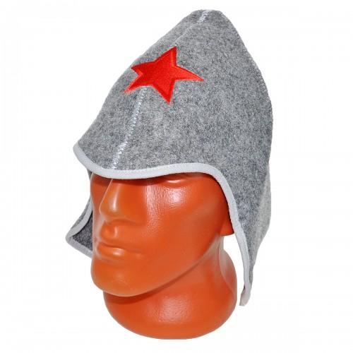 "Шапка для бани ""Буденовка"" -2 (серый)"