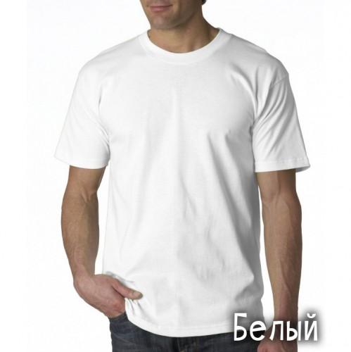"""Футболка однотонная, мужская """"Velvet"""" цвет белый (стандарт)"""