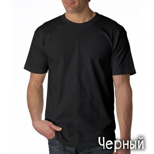 "Футболка однотонная, мужская ""Velvet"" цвет черный (стандарт)"