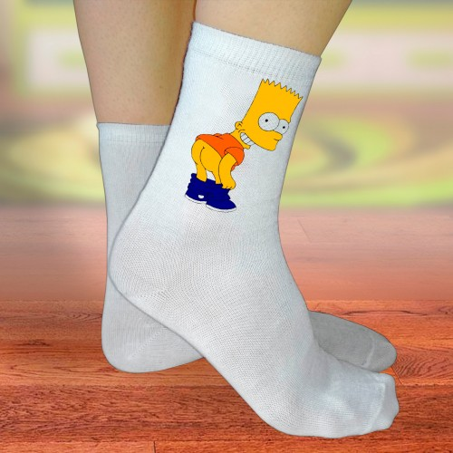 """Носки женские с надписью """"Bart"""""""