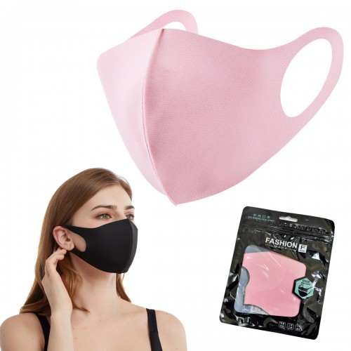 Маска на лицо из неопрена (розовая)