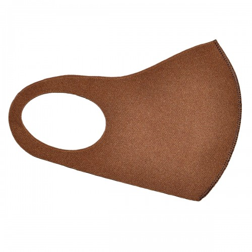Маска на лицо из неопрена (коричневая)