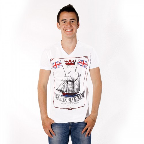 "Футболка MadMext ""Nautical almanac"" (white)"