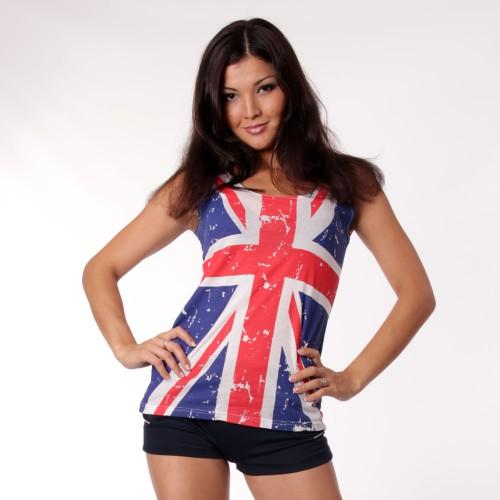 """Майка женская  """"Британский флаг """""""