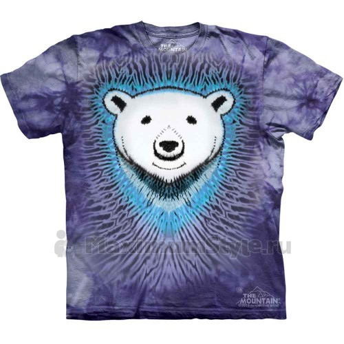 "Футболка The Mountain ""Polar Bear Tie Dye"" (детская)"