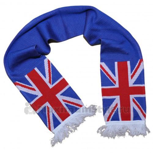Описание: схема вязания британского флага - Шарф.