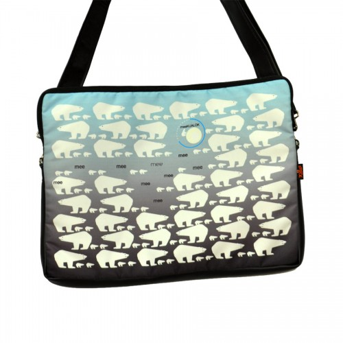 Оригинальная модная сумка для ноутбука, с ярким позитивным принтом.