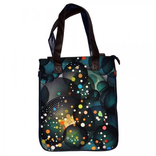 Красивая, стильная, практичная, очень объемная сумка, с ярким позитивным.