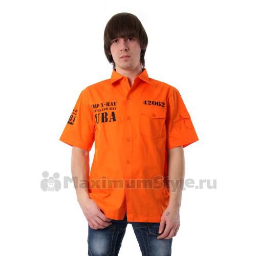 """Рубашка Lancia """"Cuba"""" (orange)"""