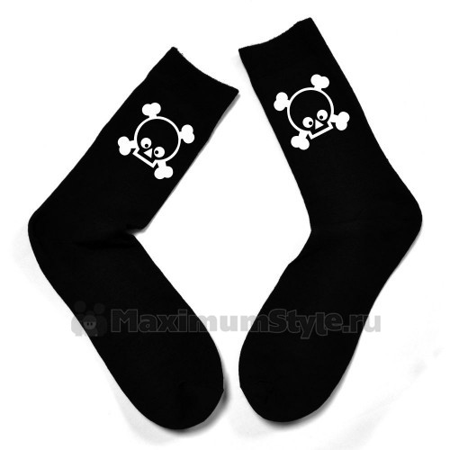"""Мужские носки с картинокой """"Черепок"""""""