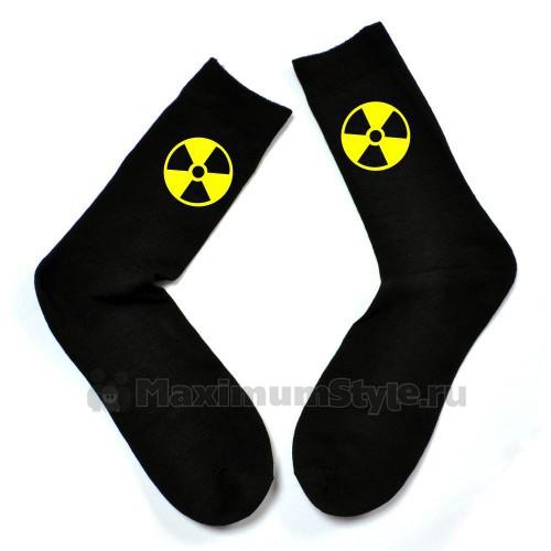 """Мужские носки с эмблемой """"Радиация"""""""