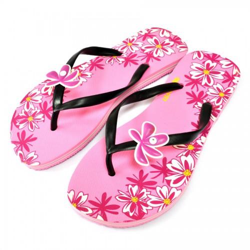 "Сланцы женские ""Apollo""  (Цветы) pink"